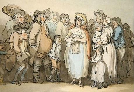 Rowlandson The Ballad Singer 1789