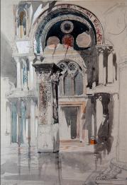 John Ruskin, Watercolour of St. Mark's, Venice