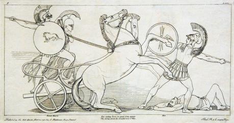 flaxman, iliad 1795, combat scene